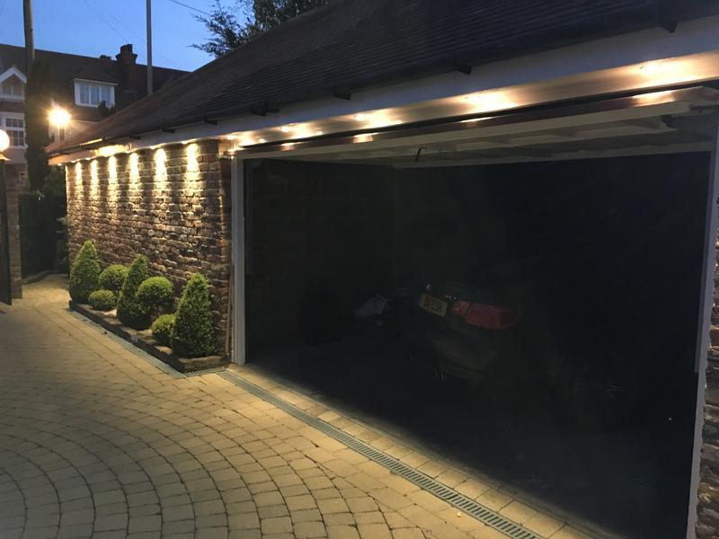 Image 5 - LED spotlights inside garage soffit.