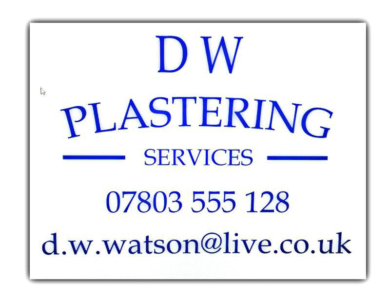 D W Plastering services logo
