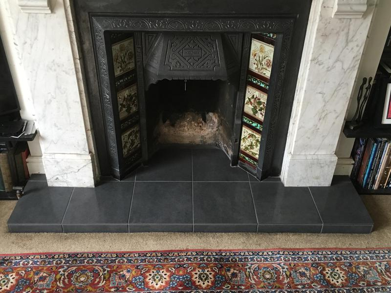 Image 70 - fireplace hearth re-tiled
