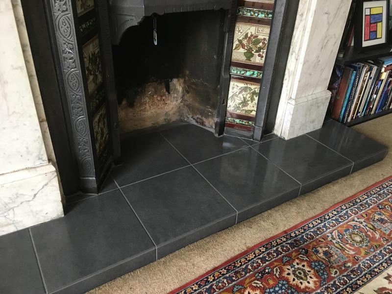 Image 69 - fireplace hearth re-tiled
