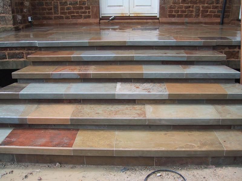 Image 8 - Reclaimed Yorkstone steps, in the wet