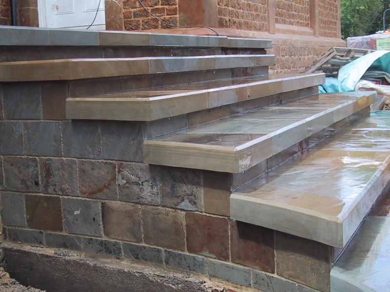 Image 7 - Reclaimed Yorkstone steps, in the wet