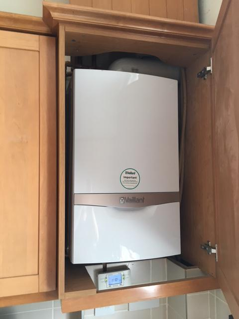 Image 2 - New boiler installed to fit discreetly in kitchen cupboard