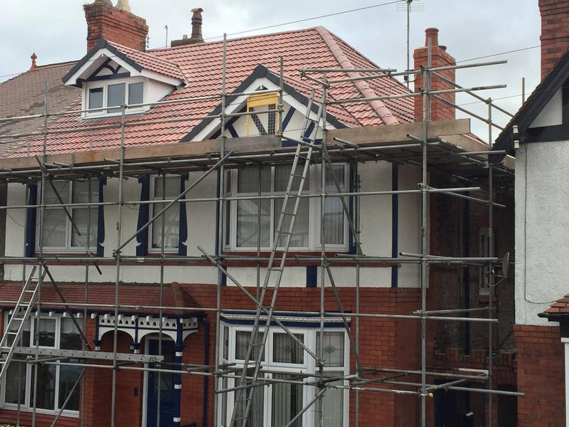 Image 8 - Re roof of this victorian house in Wallasey. Other work involved; removal of chimney stack, Replacement UPVC, soffits and gutters. Look below for the 'before' picture