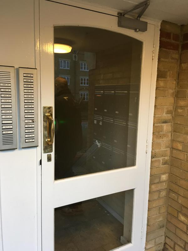 Image 6 - new safety glass fitted in door, clapham