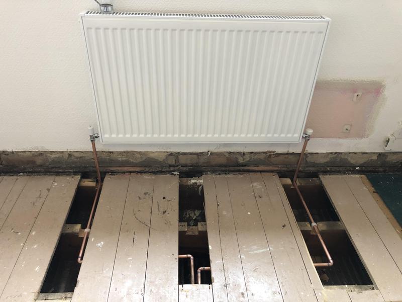 Image 19 - Radiator run pipe and installation