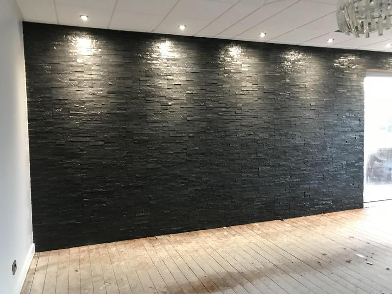 Image 41 - Tiled feature wall in a lounge area for a golf club