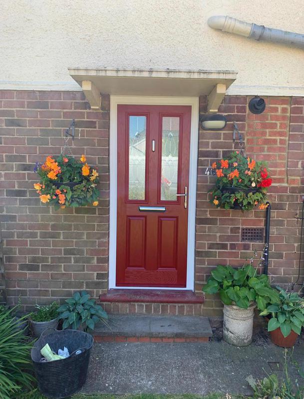 Image 168 - Brand new red composite front door.