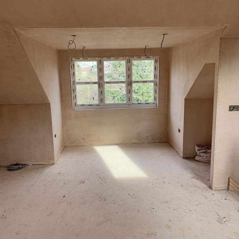 Image 20 - one of the rooms in a 3 bedroom new build home plastered.