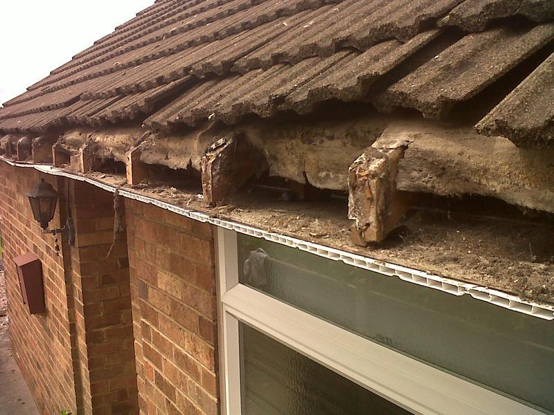 Image 9 - the old rotten wooden fascia had to be stripped off