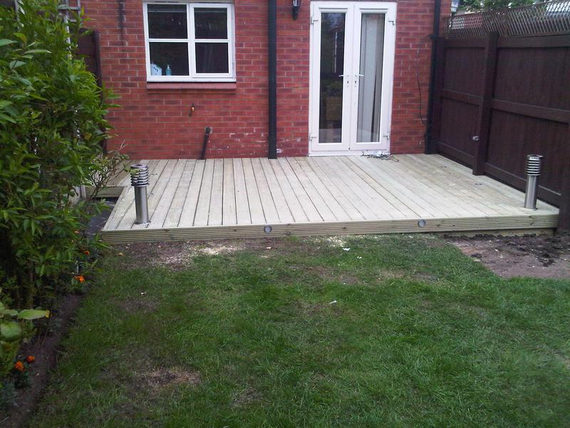 Image 24 - Complete Decked Area with Modern Lantern Posts Installed with armoured cabling