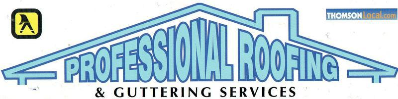 Professional Roofing & Guttering logo