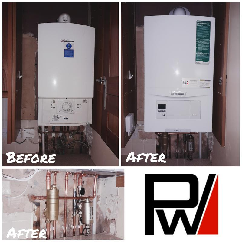 Image 1 - Replace previous boiler with a Vaillant Ecotec Pro, and fit a Fernox TF1 Omega magnetic filter, and Spirotec Spirovent RV2 deaerator.