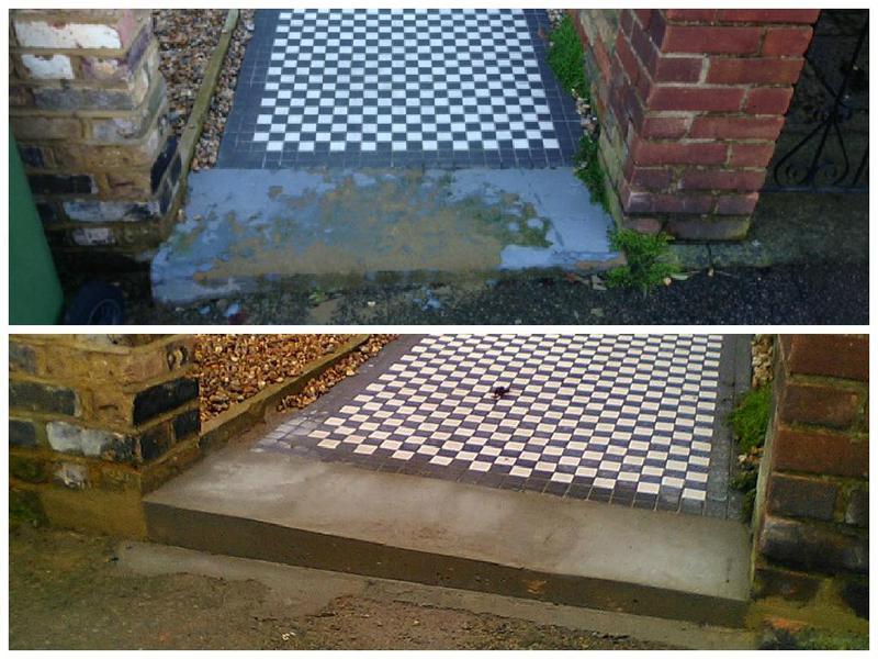 Image 19 - Concrete step refurbished.