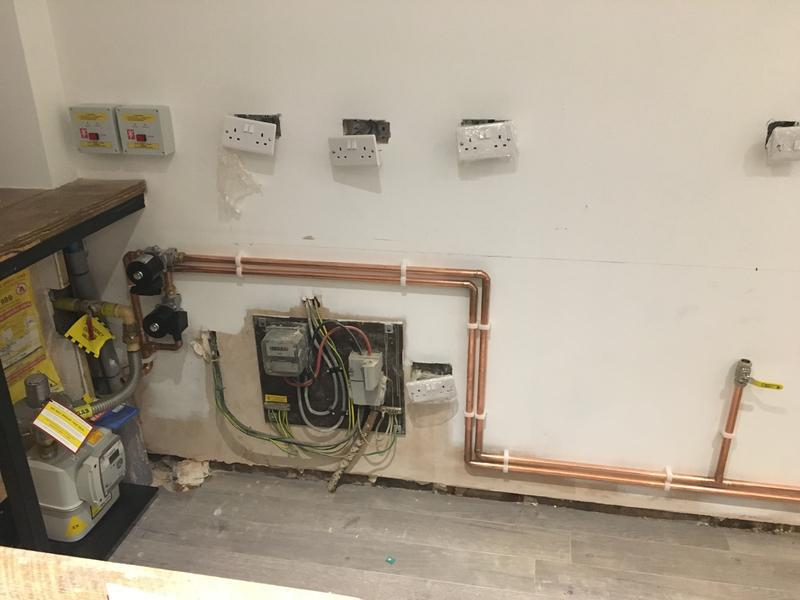 Image 7 - First fix gas installation for a local burger house, complete with gas interlock system