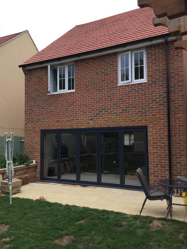 Image 3 - Removal of external wall, steel beam fitting and bifolding doors, Thaxted, Essex. by DKM Developments Ltd, builders, Great Dunmow, Essex