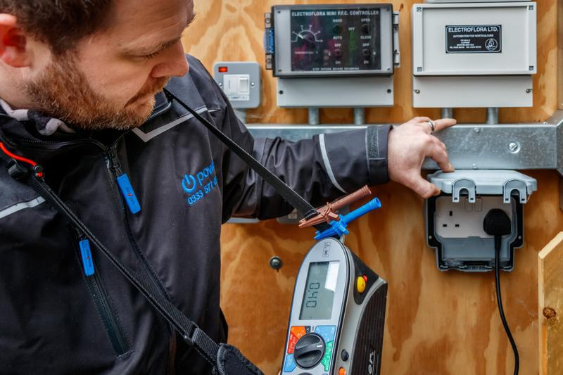 Image 4 - Supervisor carrying out a electrical condition report , Manchester electrician .