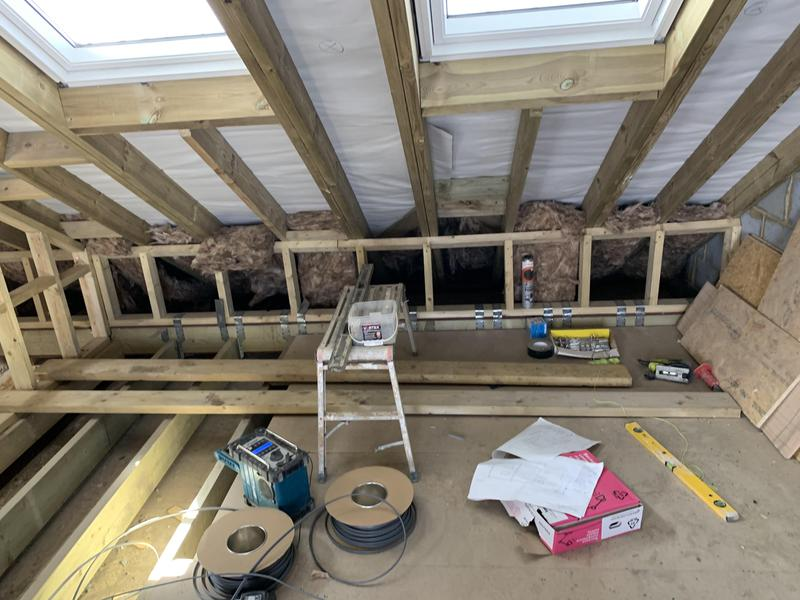 Image 1 - First fix on a loft conversion in rains park