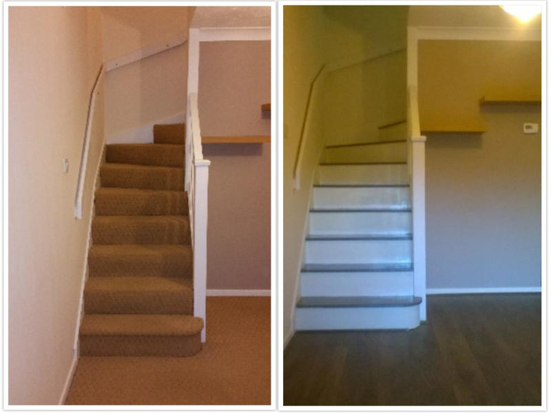 Image 82 - Laminate flooring installed and staircase painted.