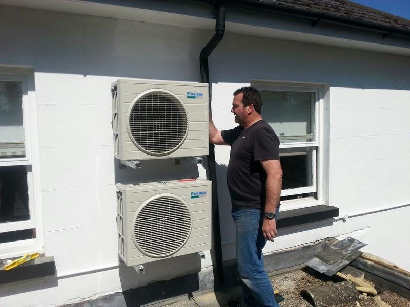 Image 11 - Completed installation of air conditioning units