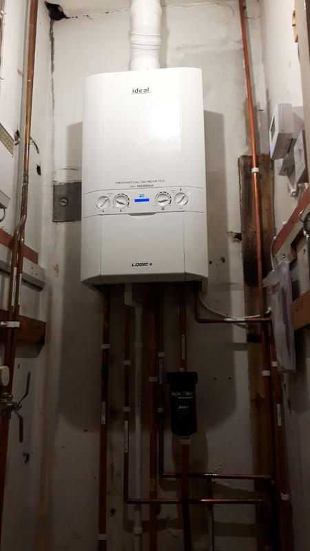Image 15 - Installed new ideal boiler with roof flue