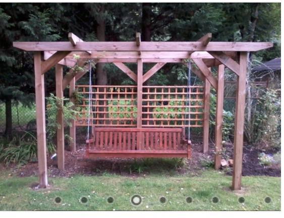 Image 29 - Pergola swing construction .