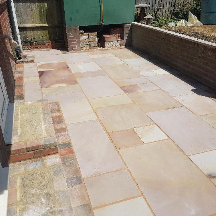 Image 12 - Indian sandstone patio meopham