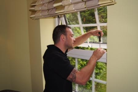 Image 5 - Keytek Locksmith working on a uPVC window mechanism