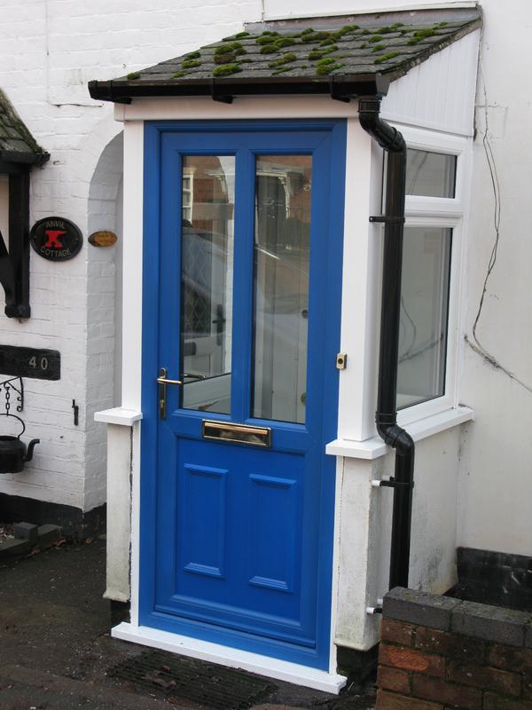 Image 53 - Blue upvc door in porch frame replacement
