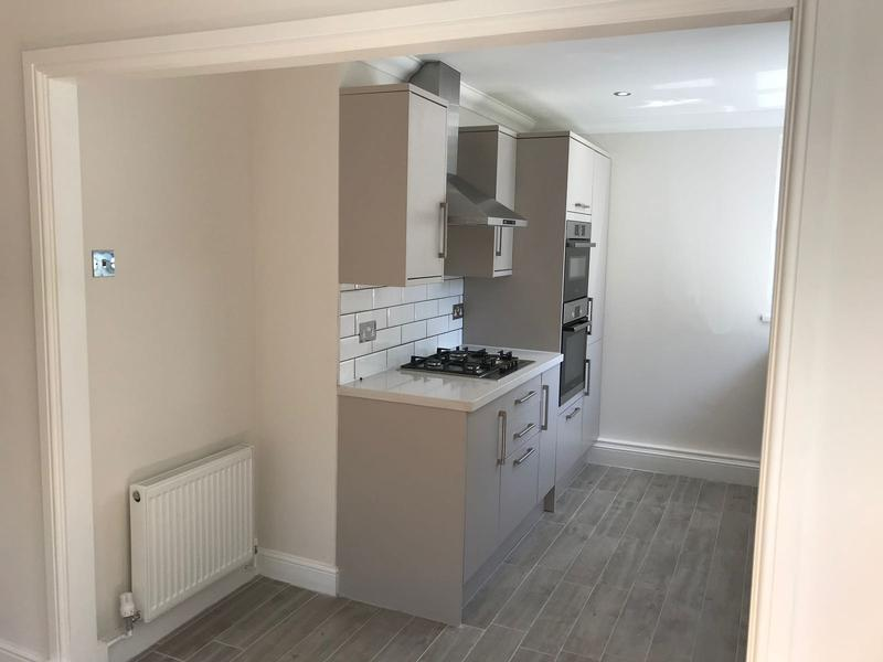 Image 5 - Kitchen walls and ceiling altered to accommodate new kitchen with mechanical extract above ceiling and new open plan layout