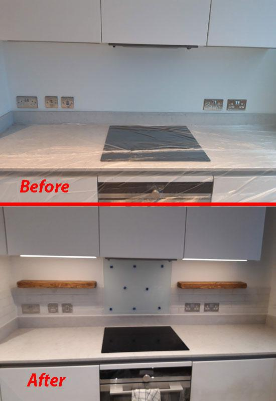 Image 2 - Stone Tiling in Kitchen - Cooking area
