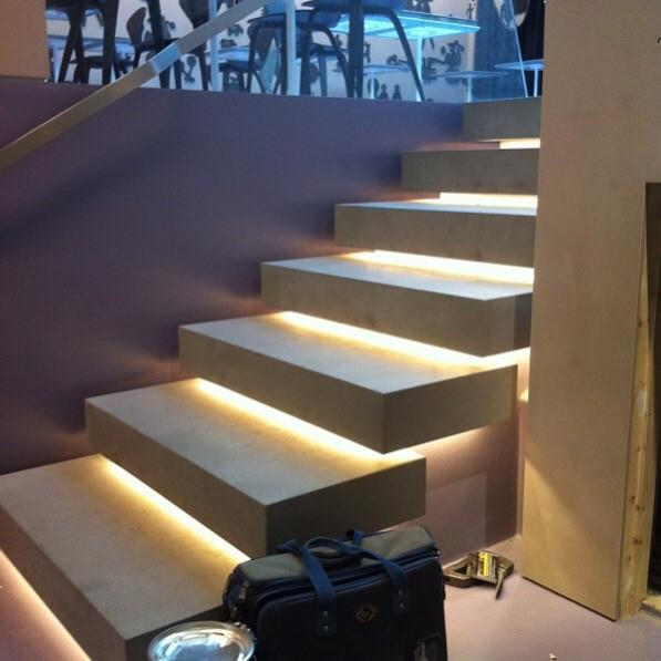 Image 4 - Mayday Electrical Solutions - olivocarn restaurant Victoria LED stair installation