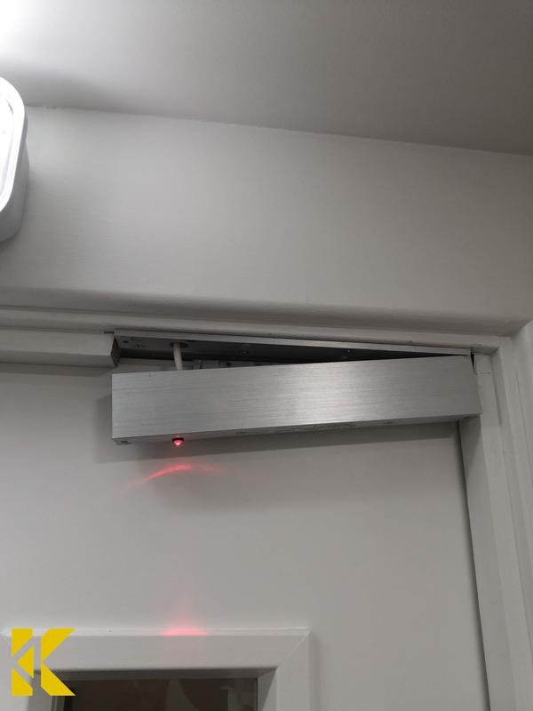 Image 17 - Fire door magnetic lock repairscompleted by Kybrook's engineers.