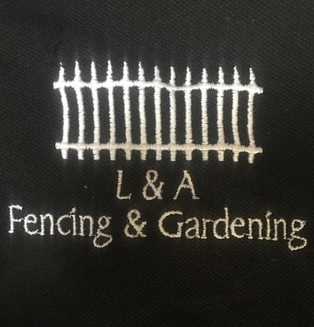 L & A Fencing and Gardening Services logo