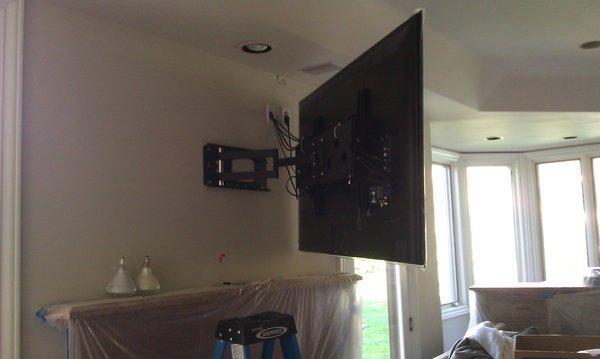 Image 17 - Mount TV on swivel bracket and install cabling via false ceiling to AV unit
