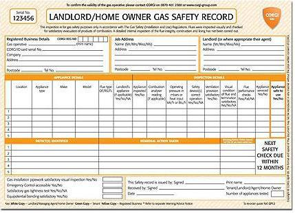 Image 90 - Landlord Gas Safety Certificate