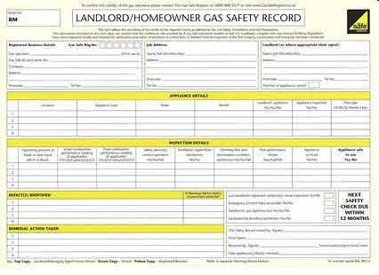 Image 43 - Ladlord Gas Safety Certificate