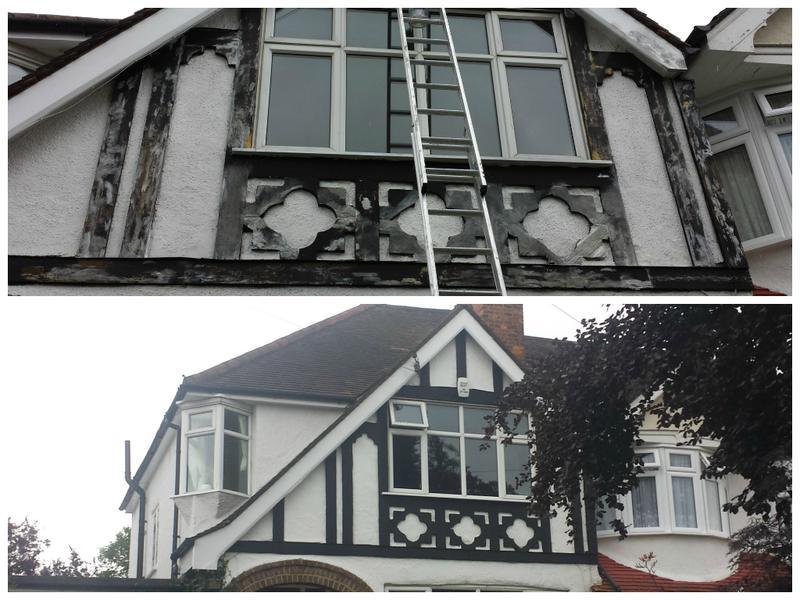 Image 47 - Tudor style cladding refurbished and decorated.