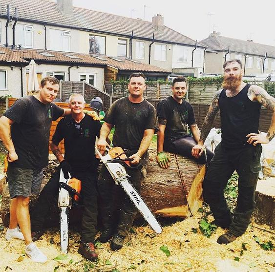 Image 13 - Some of the team at Lewis Tree Care, right to left! Terry, Andy, Myself, John, Harry.