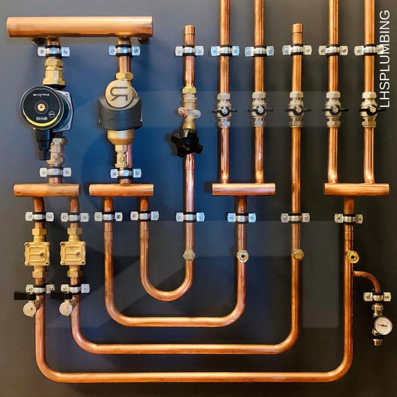 Image 4 - HYDЯAH™Installations custom made with low loss header self modulating pump filter and zone control running through a combi boiler.