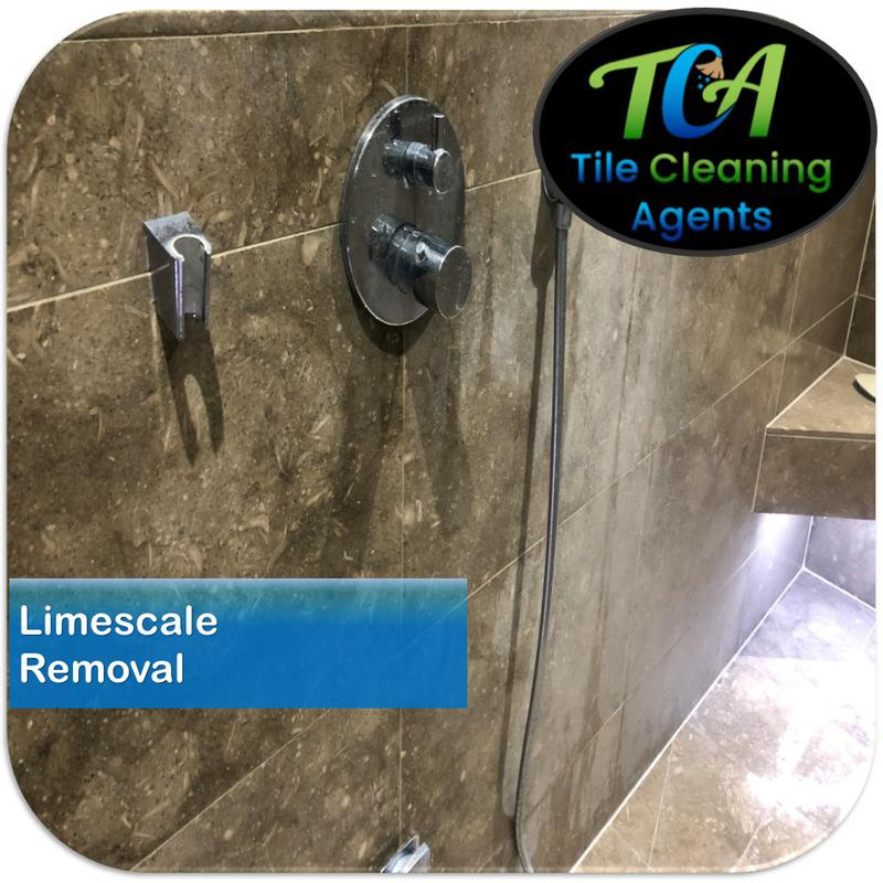 Image 5 - Limescale and hard water stain removal from shower walls