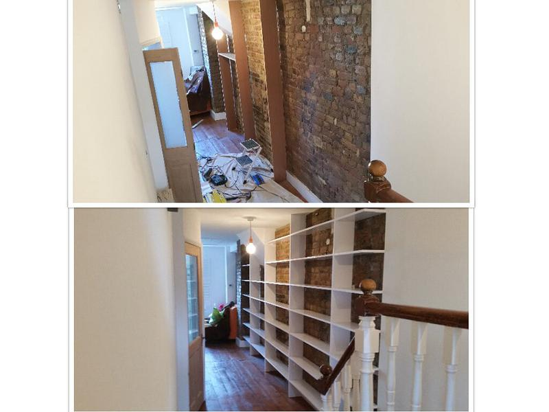 Image 28 - bespoke shelving built and painted