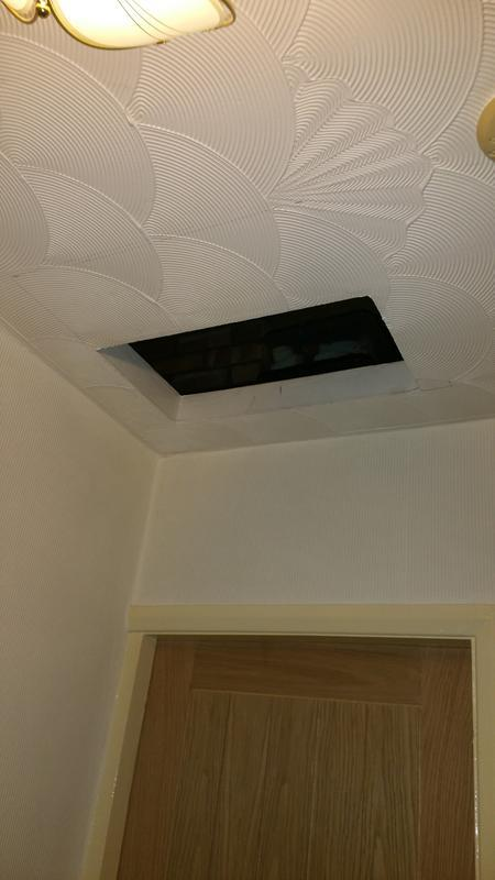Image 14 - loft hatch before ladders fitted