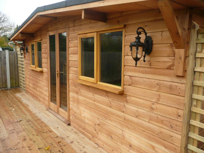 Image 27 - Log cabins we hand build to any shapes and to any specification.