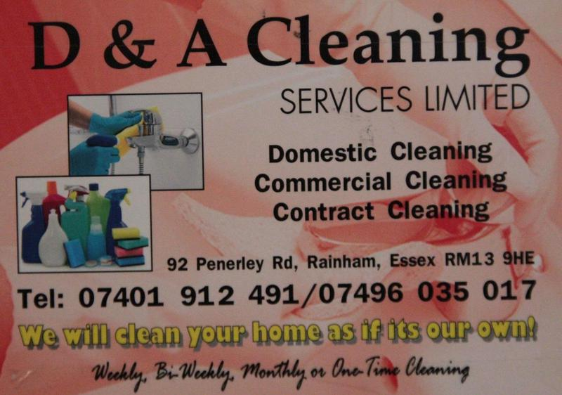 D&A Cleaning Services Ltd logo