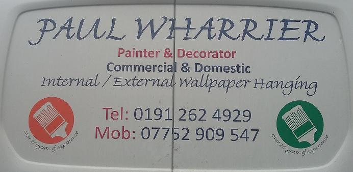Paul Wharrier Painter & Decorator logo