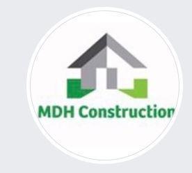 MDH Construction logo