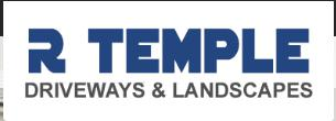 R Temple Driveways & Landscaping logo