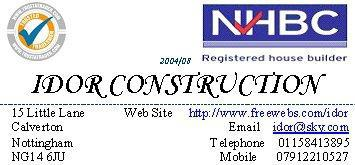Idor Construction logo