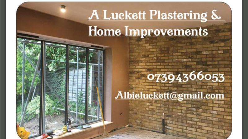 A Luckett Plastering logo